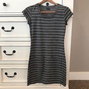 Smartwool Striped Gray Dress.